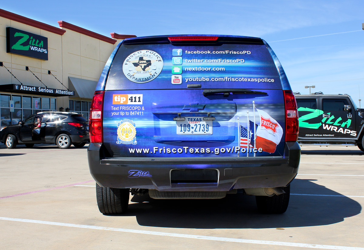 Police Car Graphics Wraps Zilla Wraps