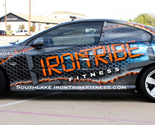 Iron Tribe Fitness Car Wrap