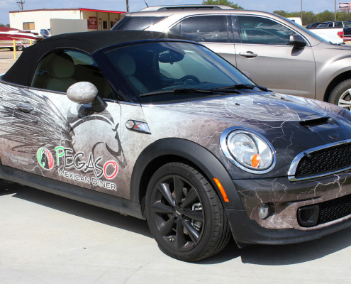Restaurant Mini Cooper Car Wrap