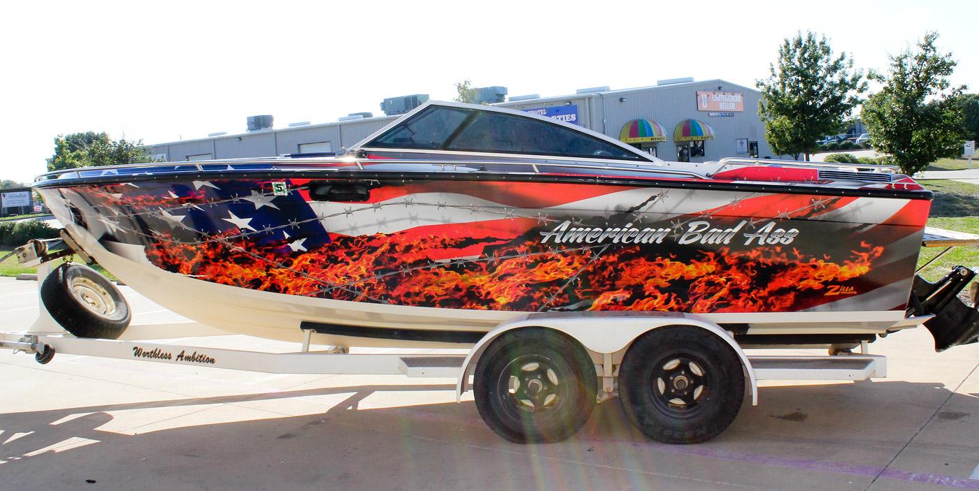 American Flag Boat Graphics - Boat decalsamerican flag boat decals usa flag boat graphics xtreme digital