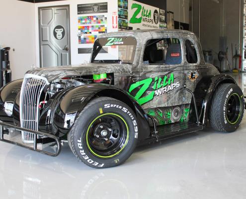 Custom Race Car Wrap Dallas
