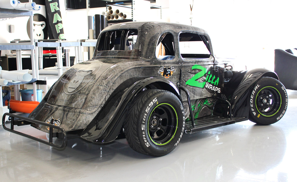 Custom Race Car Wrap Dallas Zilla Wraps