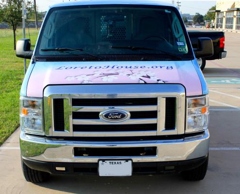 Pink and Blue Van Wrap
