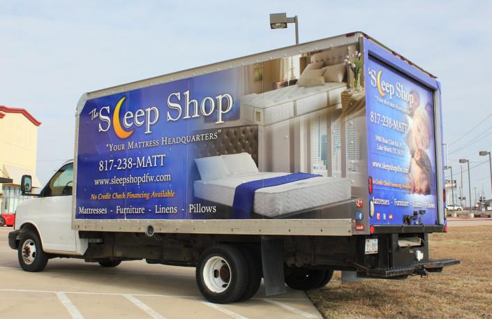 Box Truck Wrap Sleep Shop