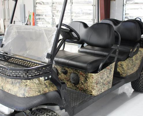 Camo Wrap Golf Cart