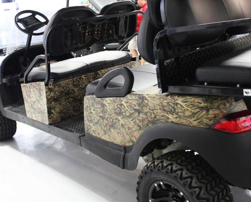 Camo Wrapped Golf Cart