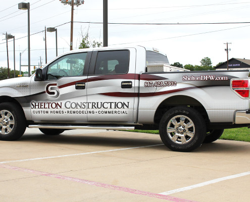 Construction Partial Truck Wrap