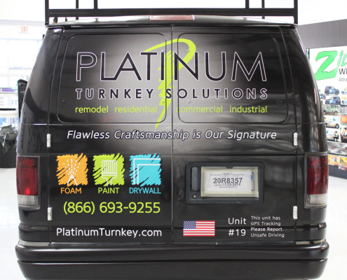 Construction Work Van Wrap