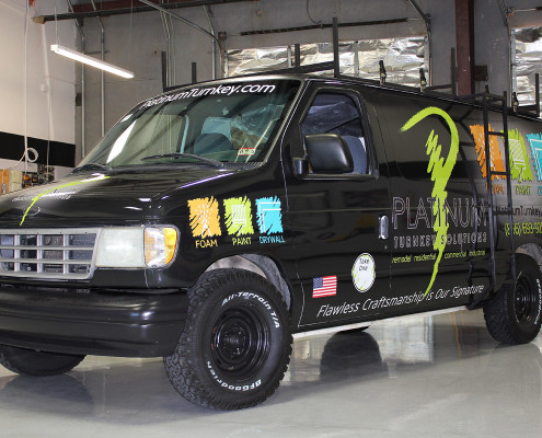 Construction Work Vehicle Wrap