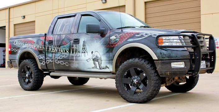Cross Equipment Pickup Truck Wrap