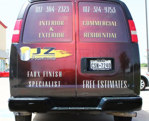 Dallas Service Van Wrap