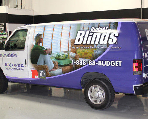 Dallas Vinyl Wrapped Van