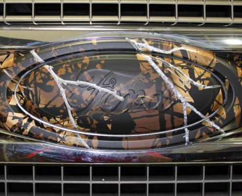 Ford Emblem Camo Wrap