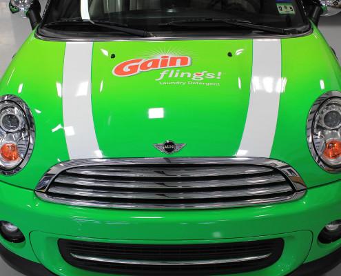 Gain Detergent Car Wrap