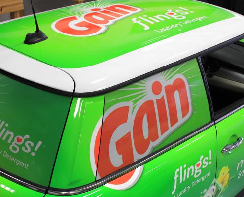 Gain Flings Car Wraps