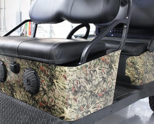 Golf Cart Antler Camo Wrap