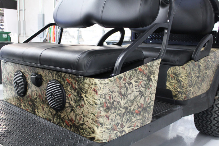 Golf Cart Antler Camo Wrap