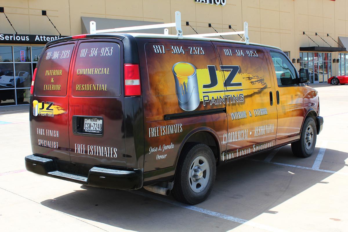 Service Van Wraps Dallas Zilla Wraps