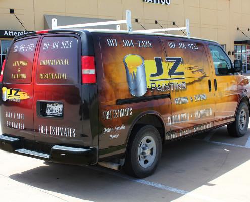 JZ Painting Service Van Wrap