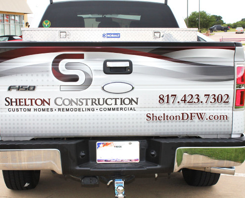 Partial Truck Wrap Construction