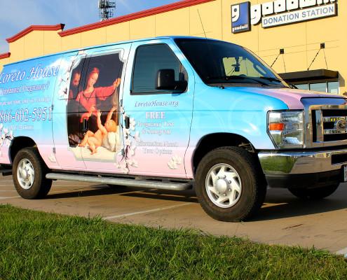 Pink Van Wrap Ford