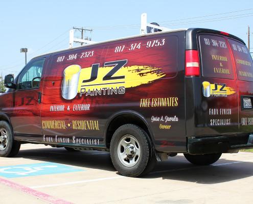 Service Van Wrap Dallas