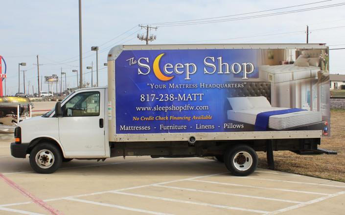 Sleep Shop Box Truck Wrap