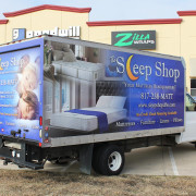 Sleep Shop Box Truck Wrap
