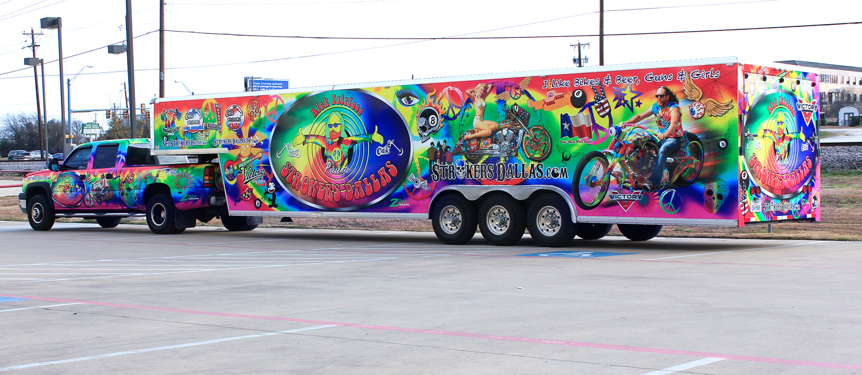 Strokers Dallas Trailer Truck Wrap