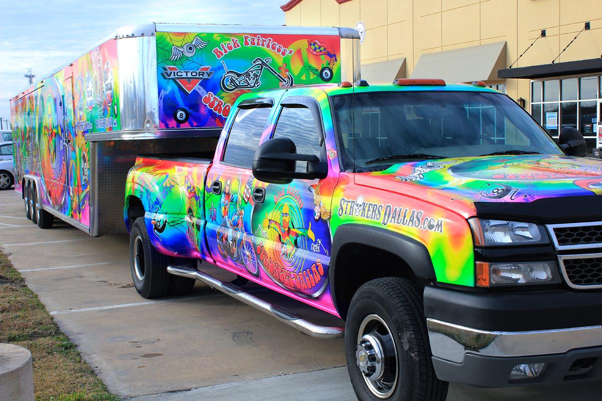 Strokers Dallas Truck Trailer Wrap