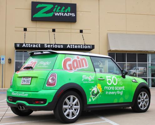 Zilla Wraps Gain Car Wrap