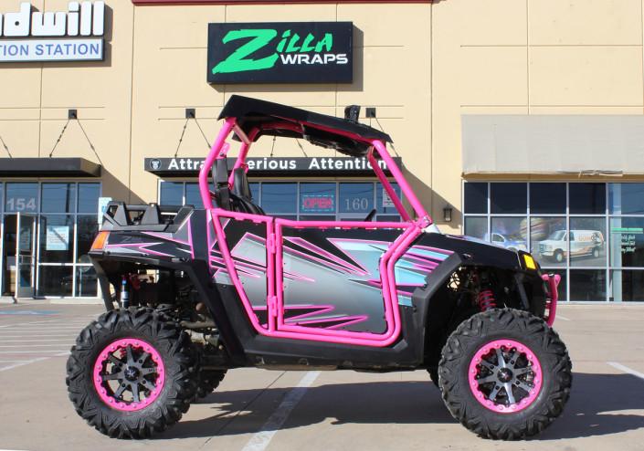 Custom Pink Atv Wrap Zilla Wraps