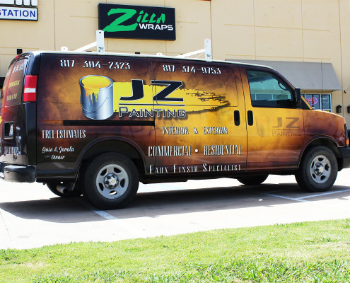 Zilla Wraps Service Van Wrap