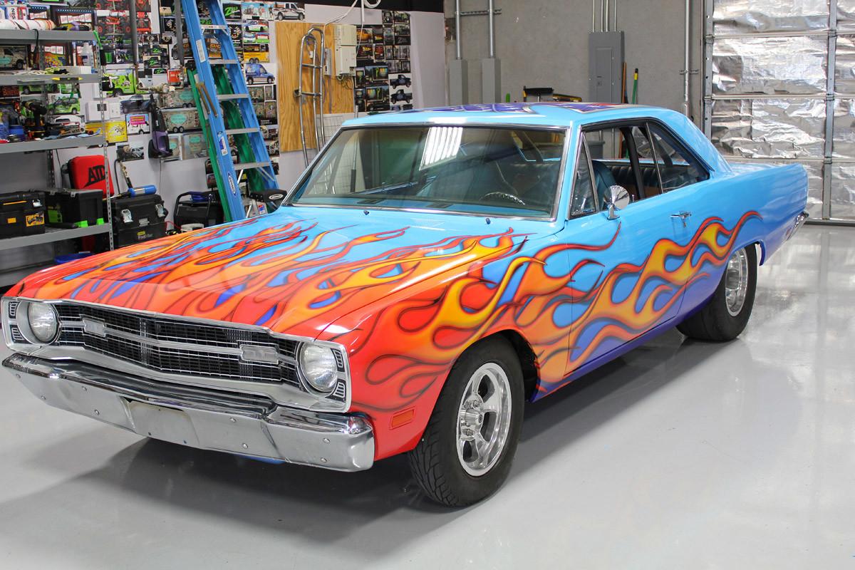 Dodge Work Van >> Flames Vinyl Wrap Dodge Dart - Zilla Wraps