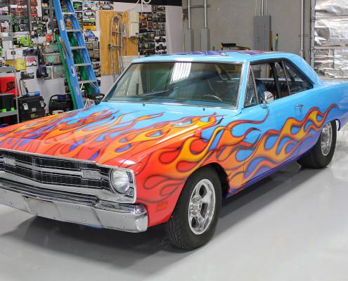 Dodge Dart Flame Vinyl Wrap