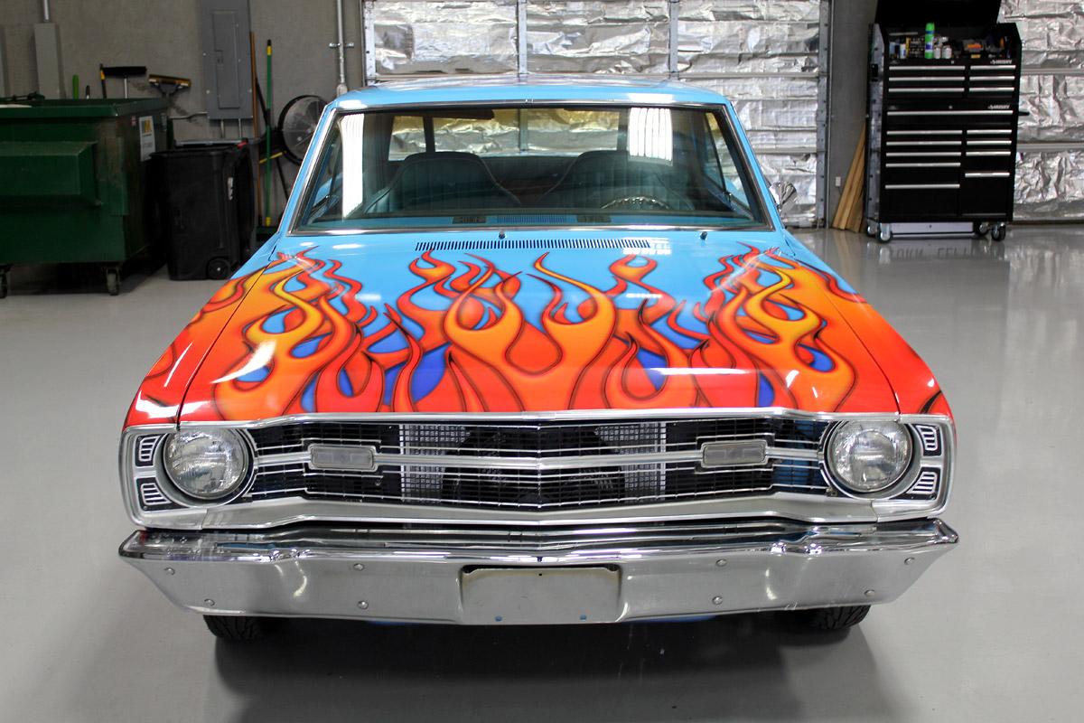 Flames Vinyl Wrap Dodge Dart Zilla Wraps
