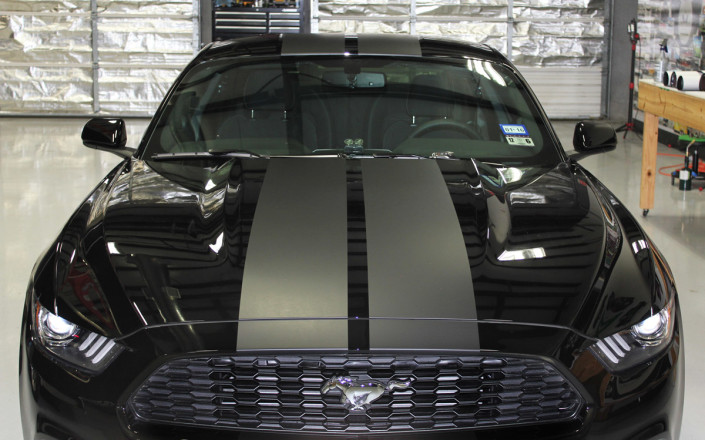 Matte Vinyl Racing Stripes Ford Mustang Zilla Wraps