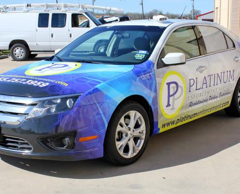 Car Wrap Dallas Platinum