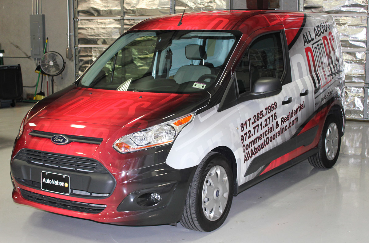 Ford Transit Van Wrap All About Doors Fort Worth Zilla Wraps