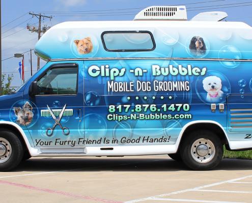 Clips N Bubbles Van Wrap