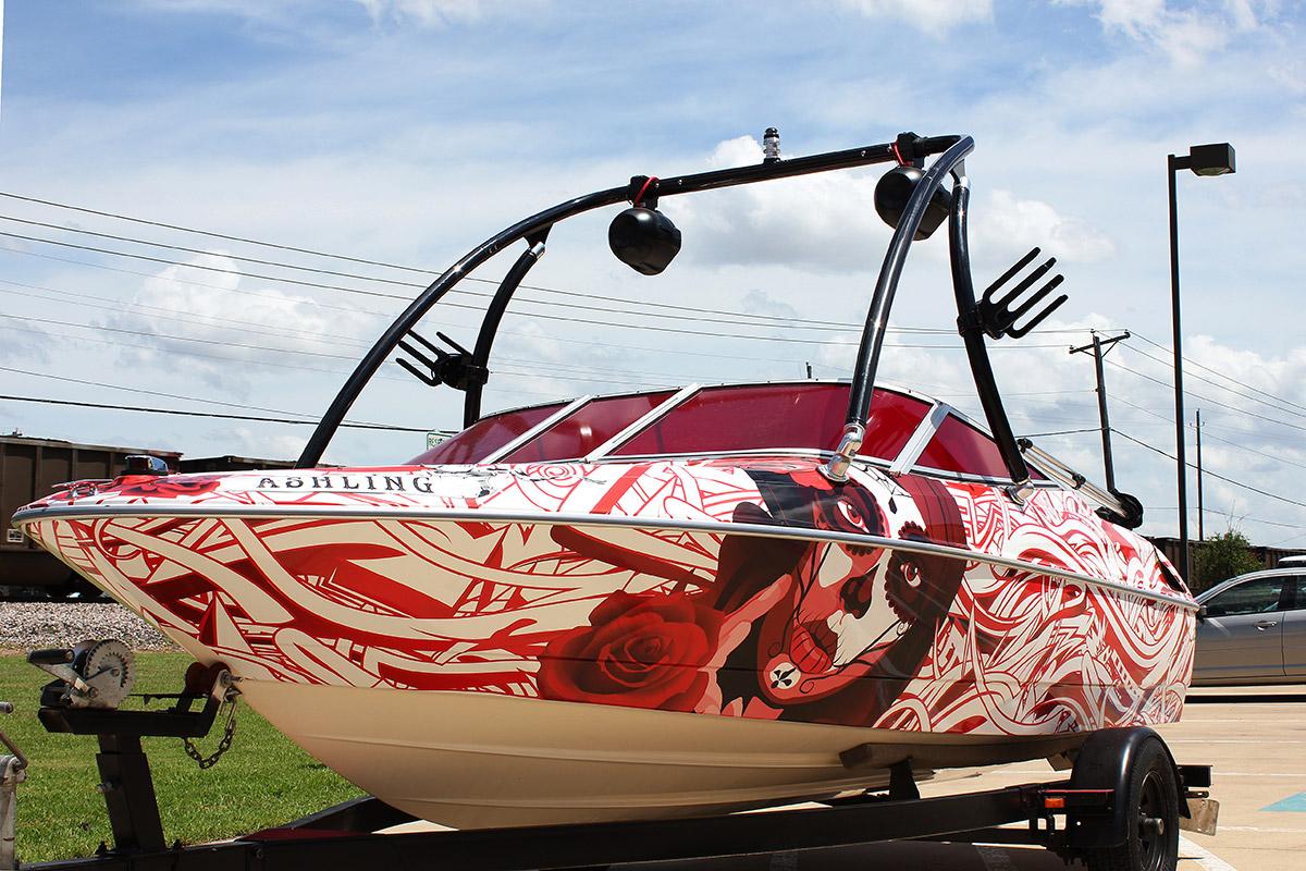 Edgy Bayliner Boat Wrap