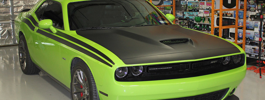 Matte Black Wrap Dodge Challenger