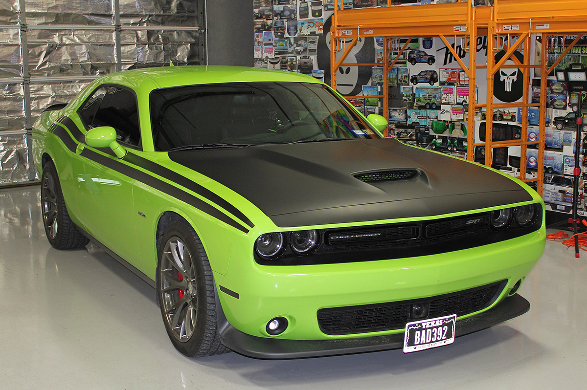 Dodge Challenger Matte Black Graphics Zilla Wraps