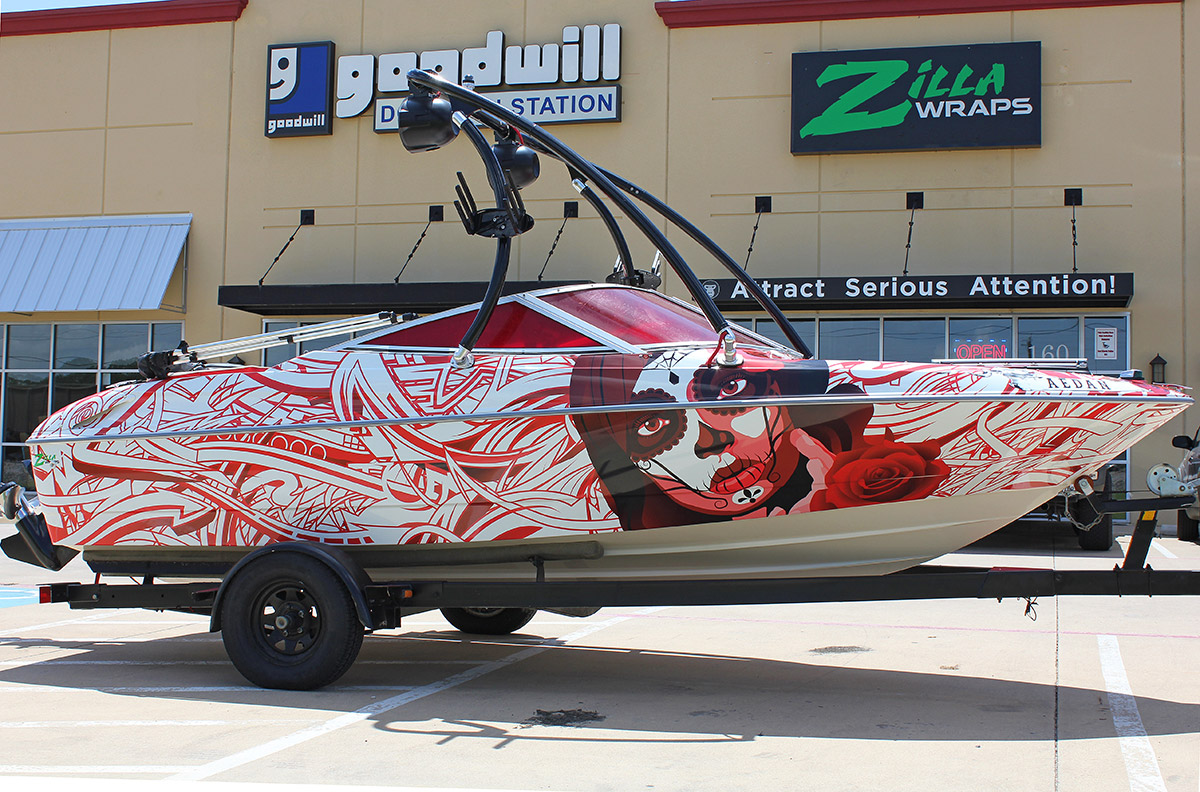 Vehicle Wrap Cost >> Edgy Bayliner Boat Wrap - Zilla Wraps