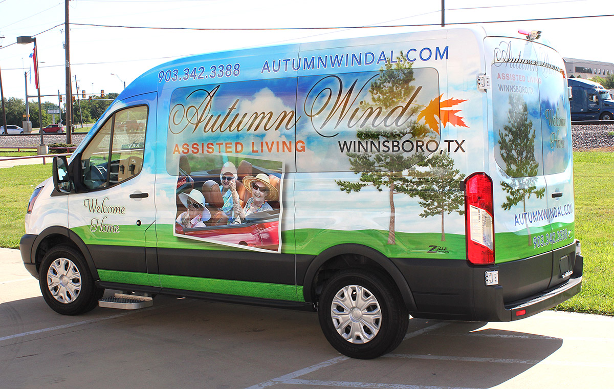 Assisted Living Shuttle Wrap Dallas