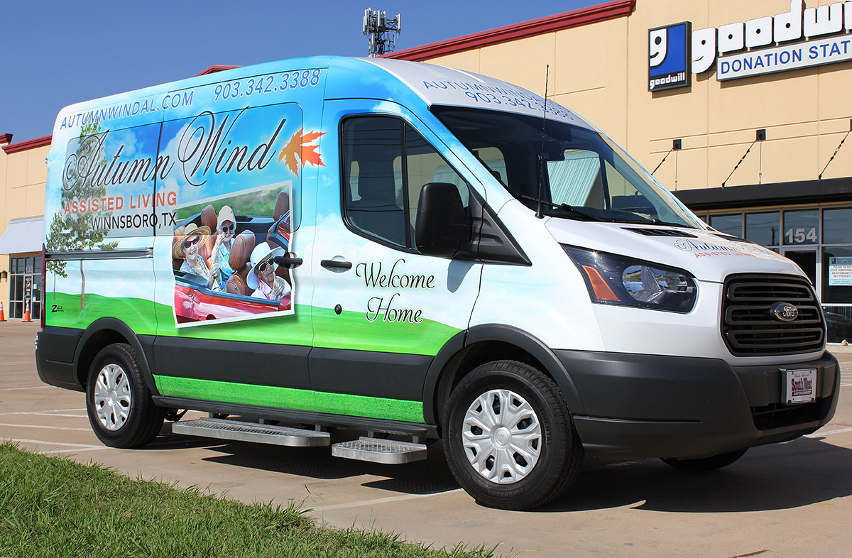 Assisted Living Shuttle Wrap Dallas - Zilla Wraps