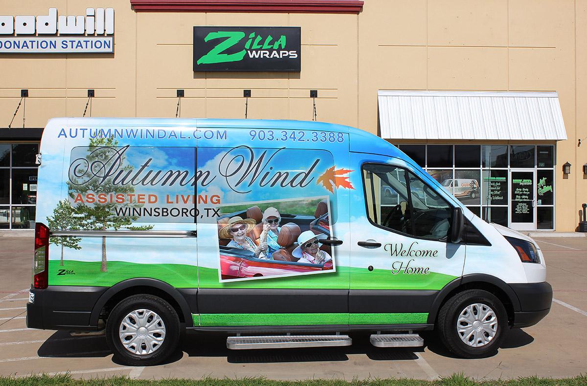 Zilla Wraps Shuttle Wraps Dallas