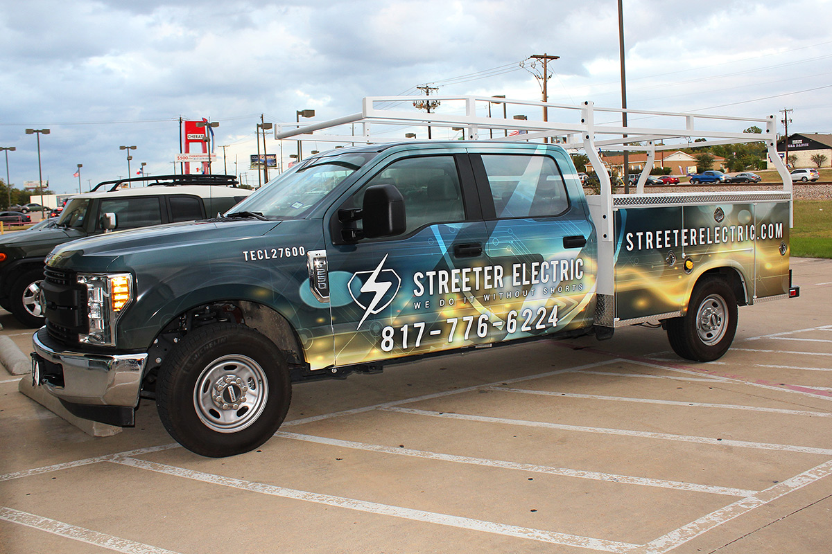 Streeter Electric Truck Wrap Granbury